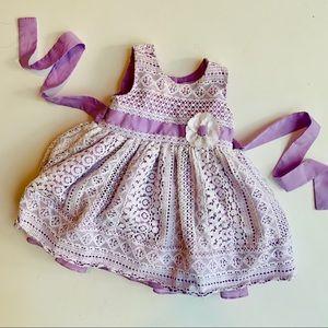 Jona Michelle 12 mo Lavender Lace Dress